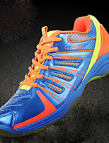 Men's Shoes Leather / Tulle Athletic / Casual Sneakers Athletic / Casual Sneaker Low Heel Lace-up Blue