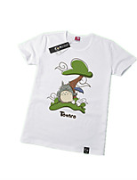 Inspired by My Neighbor Totoro Cat Anime Cosplay Costumes Cosplay Tops/Bottoms Print White Short Sleeve T-shirt