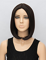 Dark Black 35cm Short Wigs for Women Straight Fashion Heat Resistant Synthetic Hair Wigs