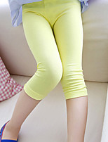 Girl's Casual/Daily Solid Leggings,Modal Summer / Spring / Fall Black / White / Yellow / Gray