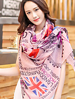 Temperament Large Amphibious Girl Flag Pattern Printing Shawl Scarf