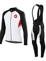 KEIYUEM®Others Winter Thermal Fleece Long Sleeve Cycling Jersey+Bib Tights Ropa Ciclismo Cycling Clothing Suits #W20