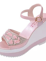 Women's Shoes PU Summer Wedges Heels Casual Wedge Heel Others Blue / Pink / White