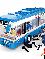 Jouets Pour les garçons Building Blocks Blocks Maquette & Jeu de Construction Autobus / / Plastique Au-dessus de 3 Bleu