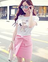 Pink Doll® Women's Bow Tie Above Knee Irregular Skirt-X15BSK029