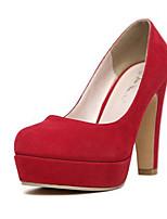 Mujer-Tacón Stiletto-Tacones-Tacones-Casual-Vellón-Negro / Azul / Rojo