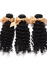 1 Peça Onda Profunda Tramas de cabelo humano Cabelo Indiano Tramas de cabelo humano Onda Profunda