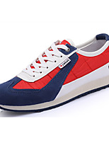 Men's Shoes Canvas Athletic Flats Athletic Sneaker Flat Heel Lace-up Green / Red / White