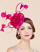 Mujer / Niña de flor Pluma / Lino Celada-Boda / Ocasión especial / Casual Tocados / Sombreros 1 Pieza Flor None