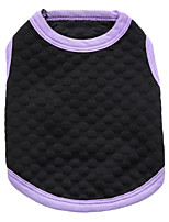 Chat / Chien T-shirt Jaune / Violet Eté Couleur Pleine Mode, Dog Clothes / Dog Clothing-DroolingDog