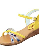 Women's Shoes Libo New Style Wedge Heel Comfort Sunny Sandals Office & Career / Dress / Casual Yellow / Beige