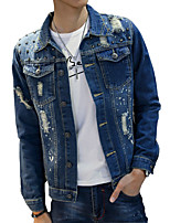 2016 spring men's denim jacket jacket HAN2 ban3 rivets fashion denim jacket