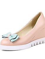 Women's Shoes PU Wedge Heel Wedges / Comfort / Round Toe Heels Office & Career / Dress / Casual Blue / Pink / White