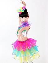 Accesorios(Multicolor,Tul,Danza Latina) -Danza Latina- paraNiños Arrugas drapeadas Representación