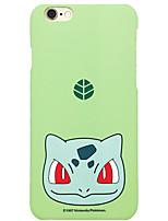 poche peu bulbasaur 5,5 pouces couverture iphone 6p / 6splus dur tapis de téléphone portable monstre