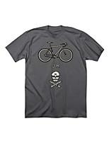 Sportivo Bicicletta/Ciclismo Top Per uomo Maniche corte Traspirante Terylene Sport Bianco S / M / L / XL / XXL / XXXL Ciclismo/Bicicletta