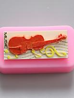 moldes de silicone violoncelo chocolate, moldes de bolo, moldes de sabão, ferramentas de decoração bakeware