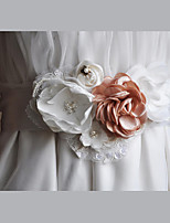 Satin /Tulle / Chiffon / Lace Wedding / Party/ Evening / Dailywear Sash-Floral /Women's 86 ½in(220cm)Floral /