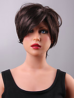 Unique Short Layered Lace Front Human Hair  Wig