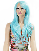 Synthetic Wigs Long Curly Wave Synthetic Hair Bule Color Wigs For Women Cosplay Christmas Wig