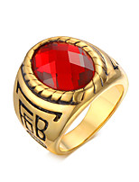 Rock Character  18K Ruby Ring