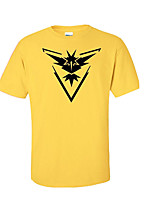 Inspired by Pocket Monster Little Monster Video Game Cosplay Costumes Cosplay T-shirt Geometric / Print Yellow Short Sleeve Top