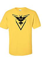 Inspirado por Pocket Monster Pequeño monstruo Vídeo Juego Disfraces Cosplay Cosplay de la camiseta Geométrico / Estampado AmarilloManga