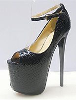 Women's Shoes Stiletto Heel Peep Toe Heels Dress Black / White