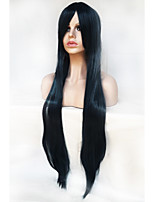 Cosplay Wig Color 100 cm High Temperature Silk Black And Blue Color Mix Long Straight Hair Wig