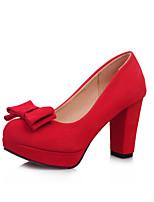 Women's Shoes Fleece the four seasons Heels / Round Toe Heels Office & Career /Casual Chunky Heel Rivet / Buckle