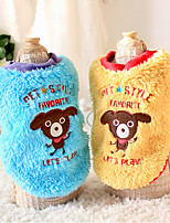 Dog Hoodie Blue / Yellow Winter Cartoon Casual/Daily, Dog Clothes / Dog Clothing