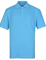 Lesmart Men's Stand Short Sleeve T Shirt Blue / Black / Gray / Orange-TK16308