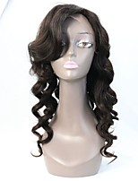 180% Density Brazilian Deep Wave Human Virgin Hair Lace Front Wig/Full lace Wig With High Side Fringe