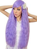 bouclés pelucas harajuku perruque pelo perruques synthétiques naturels résistant à la chaleur Perruque perruques anime cosplay violet