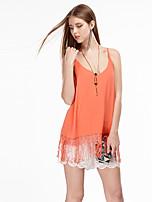 Coeur Soul® Femme A Bretelles Sans Manches T-shirt Bleu / Orange-11AA27409