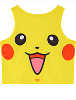 geinspireerd door Pocket Monster PIKA PIKA Anime Cosplay Kostuums Cosplay Tops / Bottoms Print  Geel Mouwloos Vest