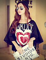 Pink Doll® Women's Round Neck Batwing Sleeve T Shirt Black-X14CTS192