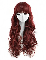 Cosplay Wigs Red Color Synthetic Cheap Wave Wigs For Black Women Fashion Wigs