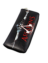 Cartoon Assassin's Creed Zipper Long Purse