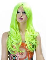 Synthetic Wigs Long Curly Wave Synthetic Hair Green Color Wigs For Women Cosplay Christmas Wig