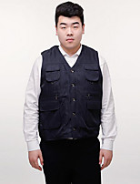 Men's Sleeveless Casual Jacket,Wool / Others Patchwork