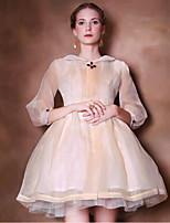 To My Fair Lady® Women's Peter Pan Collar Sleeveless Above Knee Dress-1402040