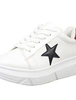 Черный / Красный-Женская обувь-Для прогулок / На каждый день / Для занятий спортом-Дерматин-На плоской подошве-Удобная обувь-Кеды