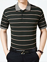 Men's Short Sleeve Polo,Cotton / Polyester Casual / Plus Sizes Striped k227