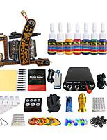ensembles d'équipement de tatouage machine de paquet de bobine couleur (couleur de la poignée de livraison aléatoire)