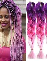 Rosa Gehäkelt Jumbo Haarverlängerungen 24 Kanekalon 1 Strand 100g Gramm Haar Borten