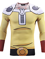 Inspired by One Punch Man PIKA PIKA Anime Cosplay Costumes Cosplay Tops/Bottoms Print Yellow Long Sleeve T-shirt