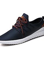 Femme-Extérieure / Décontracté / Sport-Noir / Bleu / Gris-Talon Plat-Confort-Sneakers-Tissu