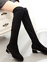 Women's Boots Fall / Winter Fashion Boots Fleece Casual Low Heel Others Black