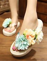 Women's Slippers & Flip-Flops Summer Open Toe PU Outdoor Flat Heel Others Beige